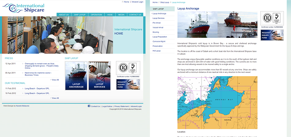 portfolio-international-shipcare-website-design