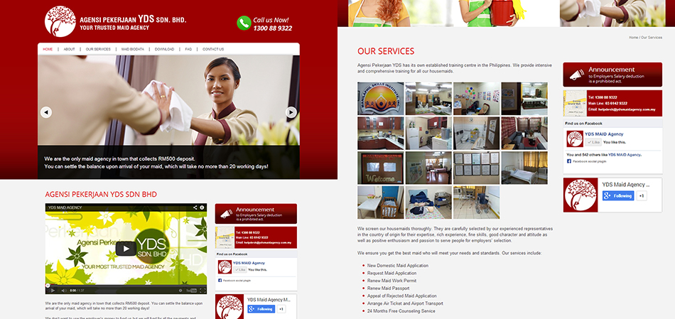 portfolio-yds-maid-agency-website-design
